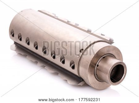 professional tool for automatic machine processing of wood. milling cutter isolated