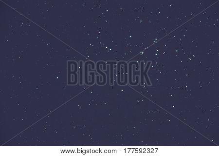 Milky way stars on a dark cosmos sky.