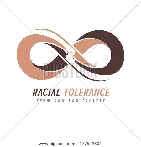 Racial Tolerance Conceptual Symbol, Martin Luther King Day, Zero Tolerance, Vector Symbol Created Wi