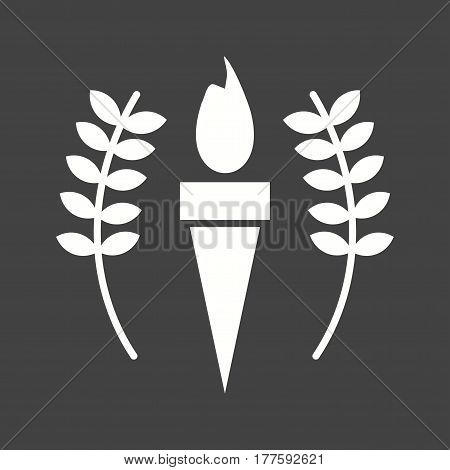 Torch, olympic, sport icon vector image. Can also be used for olympics. Suitable for mobile apps, web apps and print media.
