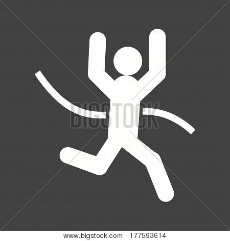 Line, race, finish icon vector image. Can also be used for olympics. Suitable for mobile apps, web apps and print media.