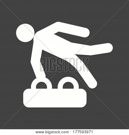 Gymnastics, olympic, rings icon vector image. Can also be used for olympics. Suitable for mobile apps, web apps and print media.