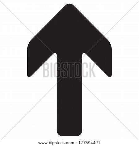 Arrow Up vector icon ahead arrow ascending direction flat