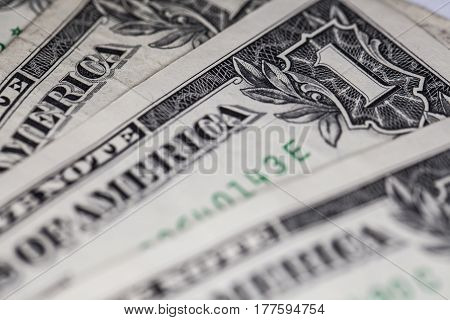 One Dollar Bills Like A Background