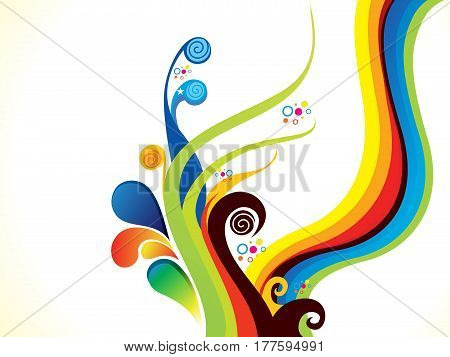 abstract artistic creative colorful floral vector illustration