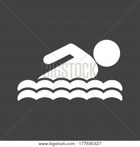 Swimming, olympic, pool icon vector image. Can also be used for olympics. Suitable for mobile apps, web apps and print media.