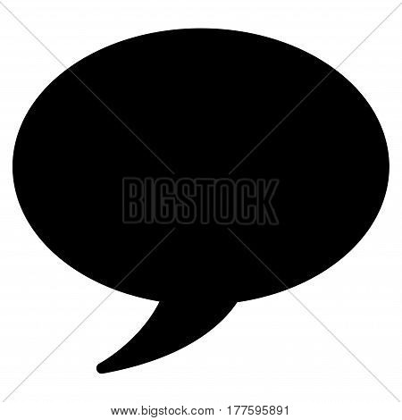 Message Balloon vector icon. Flat black symbol. Pictogram is isolated on a white background. Designed for web and software interfaces.
