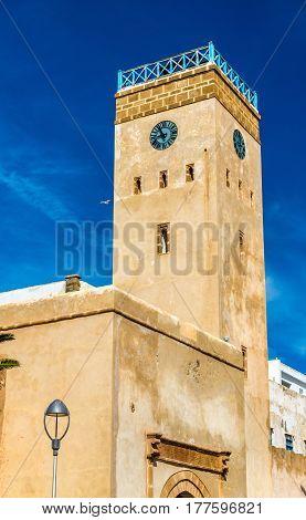 Bab al-Minzah clock tower in Essaouira - Morocco