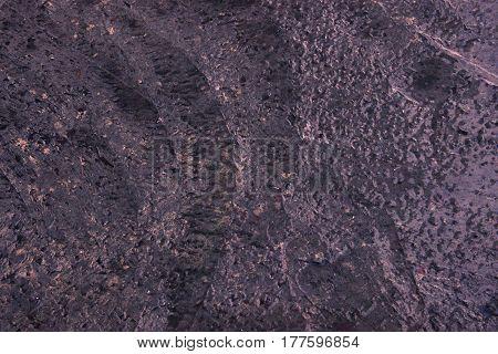 Purple Wet Cement Texture For Background. Wet Concrete Floor