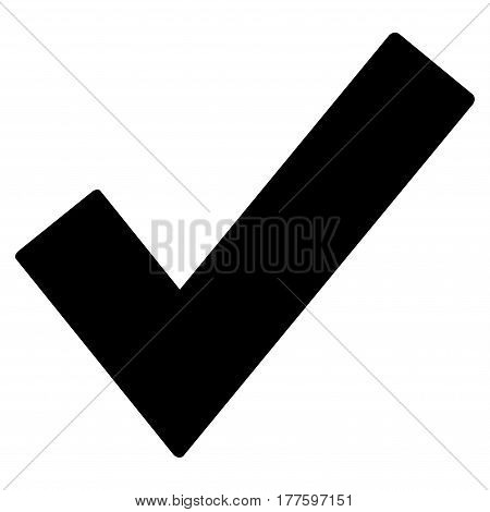 Ok Tick vector icon. Flat black symbol. Pictogram is isolated on a white background. Designed for web and software interfaces.