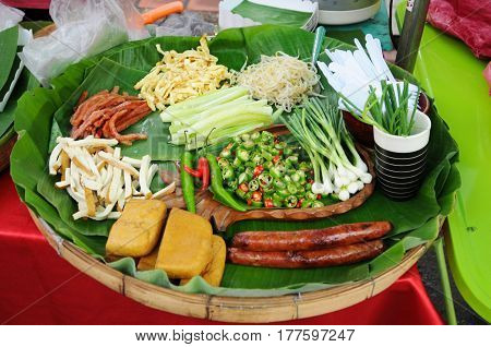 lanna thai nothern cooked cucumber cuisine delicious dish food fresh gourmet green healthy