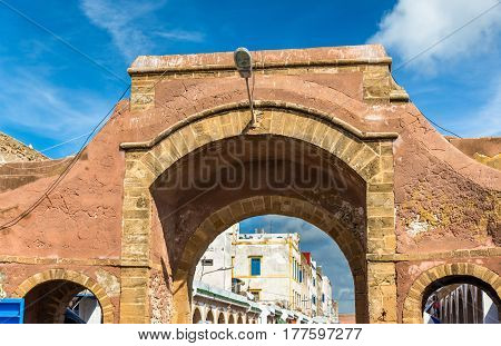 Gate in the old town of Essaouira - Morocco