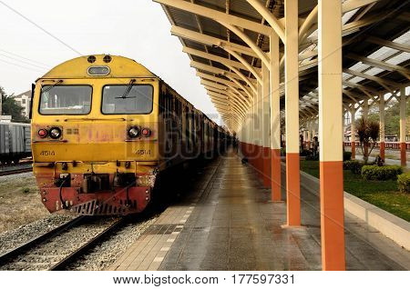 train vintage thailand old locomotive landscape travel motion