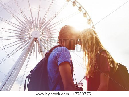 Photo Gradient Style with Couple staring at each other carousel background