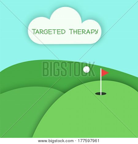 Targeted Therapy Playing Golf Concept