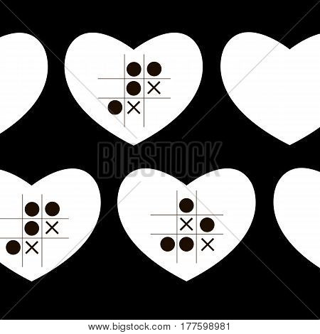 heart vector hearts re stripes crosses repetition