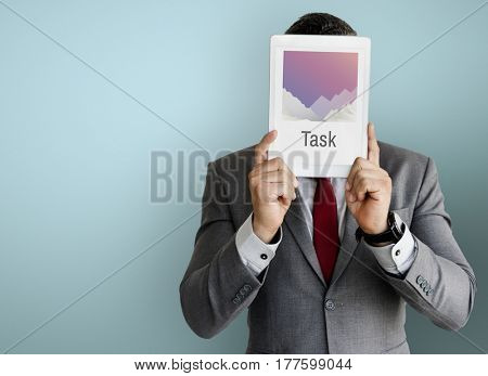 Businessman Digital Device Concept