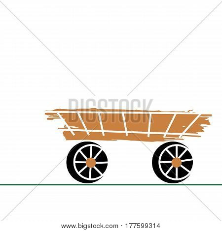 cart horse vector people traditional illustration transport