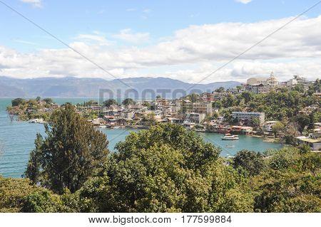 The Village Of San Pedro La Laguna On Lake Atitlan