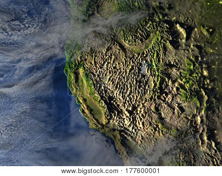 West Coast Of Usa On Planet Earth