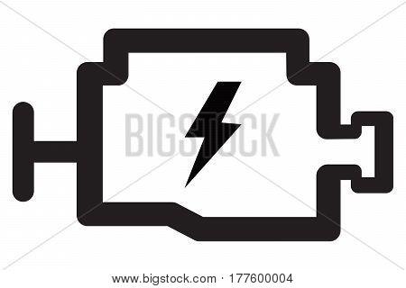 Check eingine icon car engine sensor vector computer