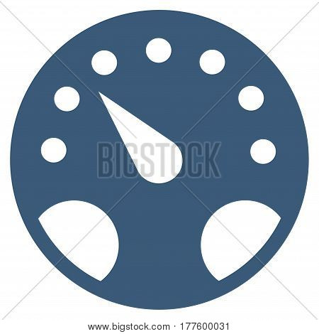 Gauge vector icon. Flat blue symbol. Pictogram is isolated on a white background. Designed for web and software interfaces.