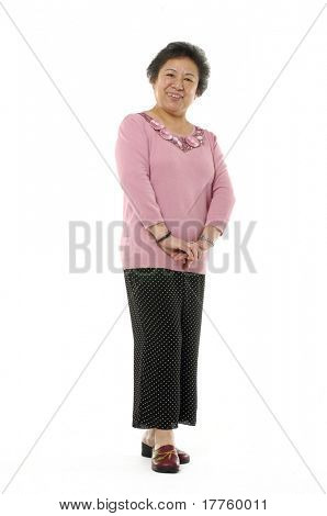 Portrait of a senior Asian woman