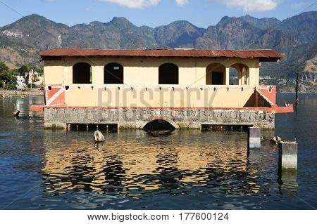 Flooded House At San Pedro On Lake Atitlan