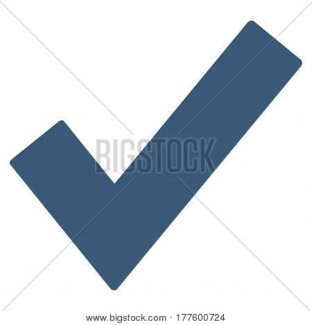 Ok Tick vector icon. Flat blue symbol. Pictogram is isolated on a white background. Designed for web and software interfaces.