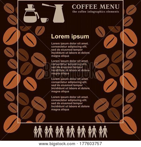 Coffee House Menu Board, Vector