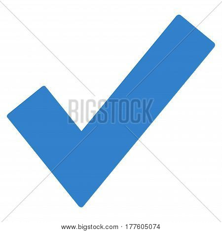 Ok Tick vector icon. Flat cobalt symbol. Pictogram is isolated on a white background. Designed for web and software interfaces.