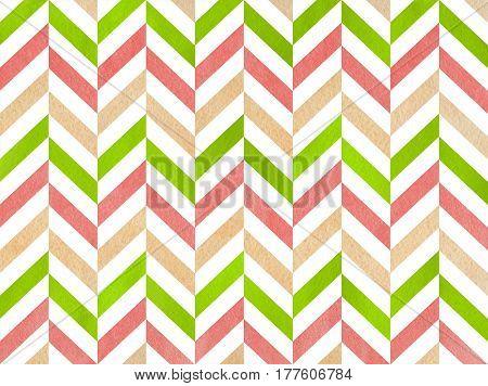 Watercolor Stripes Background, Chevron.