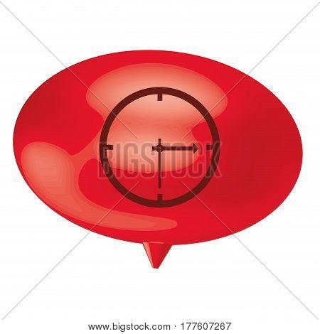 red bubble clock icon, vector illustration design