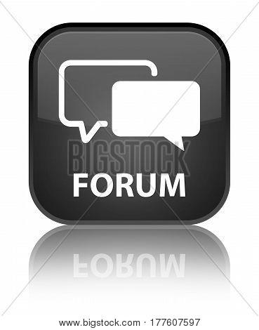 Forum Special Black Square Button