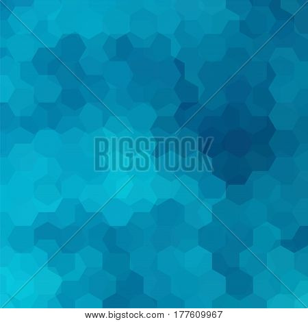 Vector Background With Blue Hexagons. Can Be Used In Cover Design, Book Design, Website Background.