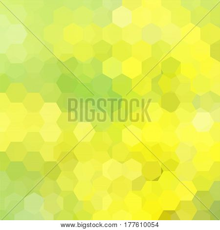 Abstract Background Consisting Of Yellow, Green Hexagons. Geometric Design For Business Presentation