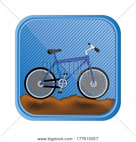 sports bike in rocky mountain, vector illustration design