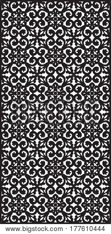 Rectangular lattice pattern background in oriental style. Arabesque. Good idea for metallic gratings with laser cutting. Vector editable illustration