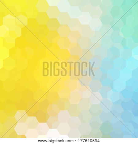 Abstract Hexagons Vector Background. Geometric Vector Illustration. Creative Design Template.