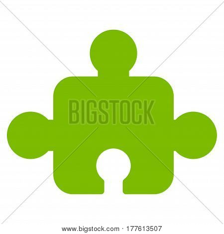 Component vector icon. Flat eco green symbol. Pictogram is isolated on a white background. Designed for web and software interfaces.