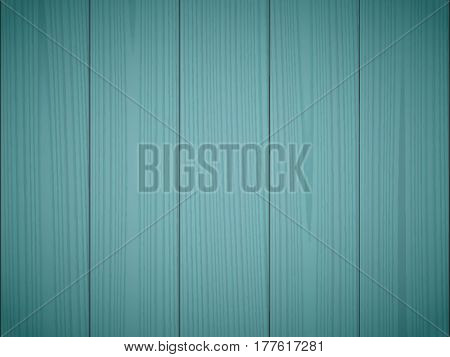 Dark green wood texture background. Wooden surface, grained table, floor. Graphic design element for scrapbooking, presentation, web page background. Realistic vector illustration.