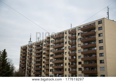 Apartment building in Munich residential building residential house Germany
