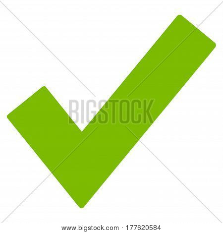 Ok Tick vector icon. Flat eco green symbol. Pictogram is isolated on a white background. Designed for web and software interfaces.