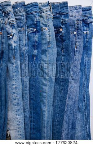 Set of Blue Jeans