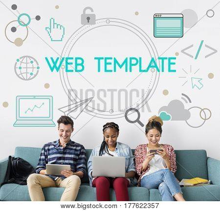 Internet Layout Web Template Networking