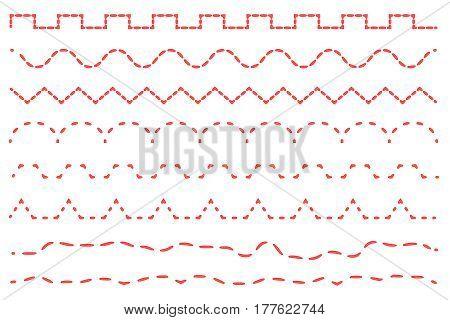 Set stitch sewing machine on a white background.