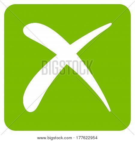 Reject vector icon. Flat eco green symbol. Pictogram is isolated on a white background. Designed for web and software interfaces.