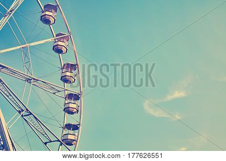 Vintage Stylized Picture Of A Ferris Wheel.