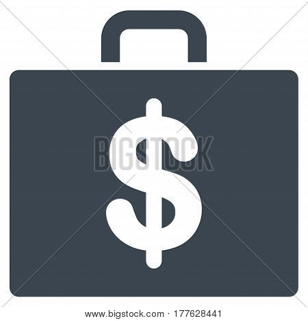 Accounting Case vector icon. Flat smooth blue symbol. Pictogram is isolated on a white background. Designed for web and software interfaces.