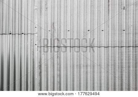 Gray Corrugated Metal Fence Texture